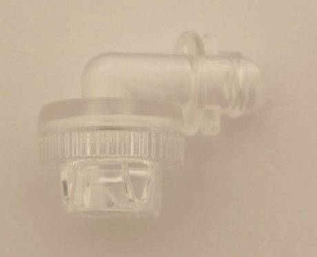 Milchauslauf transparent